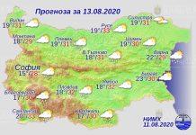 13 августа погода в Болгарии
