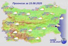 15 августа погода в Болгарии