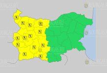 25 августа Желтый код в Болгарии