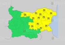 6 августа Желтый код в Болгарии