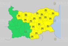 7 августа Желтый код в Болгарии