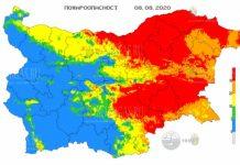 8 августа пожароопасность в Болгарии