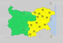 8 августа Желтый код в Болгарии