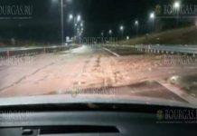 На автомагистрали Струма возле Сандански произошел оползень