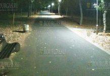 В Бургасе отремонтировали освещение на аллее в ЖК Зорница