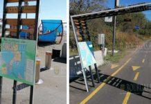 В ЖК Сарафово установили арку для велосипедистов
