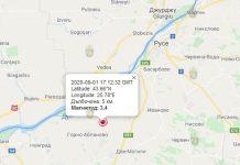 1 сентября землетрясение в Болгарии