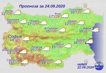 24 сентября погода в Болгарии