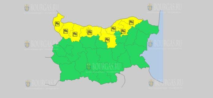 30 сентября Желтый код в Болгарии