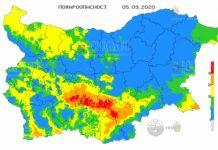 5 сентября пожароопасность в Болгарии