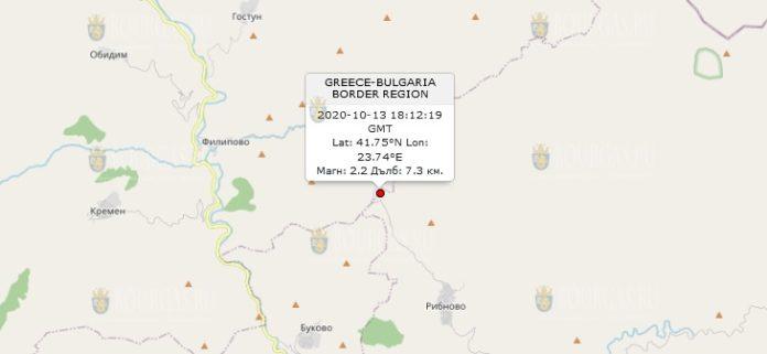 13 октября землетрясение в Болгарии