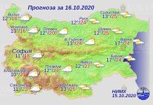 16 октября погода в Болгарии