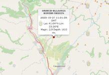 27 октября землетрясение в Болгарии