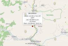 5 октября землетрясение в Болгарии
