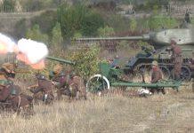 Танк Т-34 принял участие в реконструкции военных событий под Велико Тырново