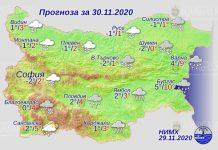 30 ноября погода в Болгарии