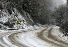 в районе Рожена прошел снегопад