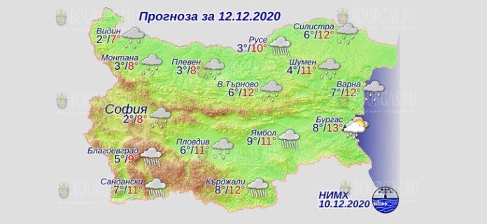12 декабря погода в Болгарии