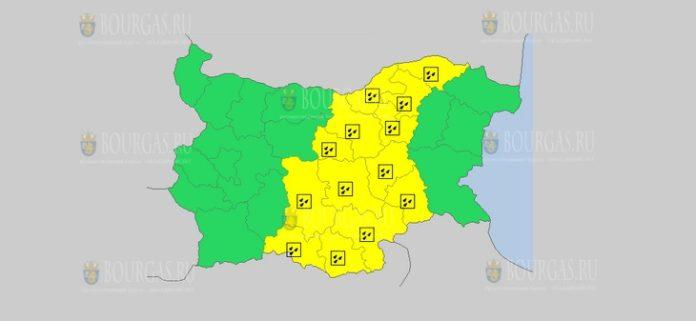 12 декабря Желтый код в Болгарии