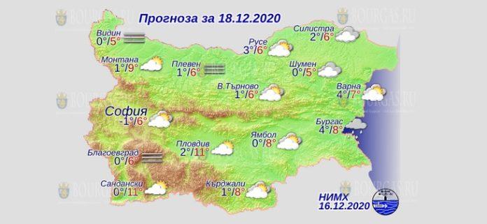 18 декабря погода в Болгарии
