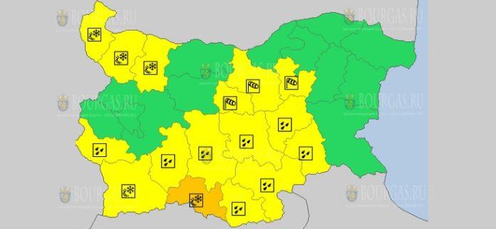 27 декабря Желтый код в Болгарии