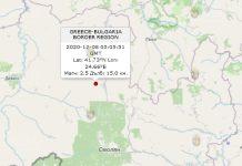 8 декабря землетрясение в Болгарии