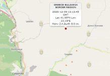 9 декабря землетрясение в Болгарии