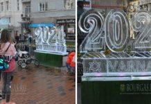 ледяная скульптура в Варне 2021 год