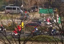 По улицам Кырджали проехали Дед Мороз и около 30-ти белобородых мотоциклистов