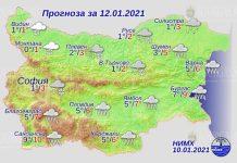 12 января погода в Болгарии