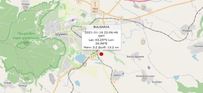 17 января 2021 года землетрясение в Болгарии