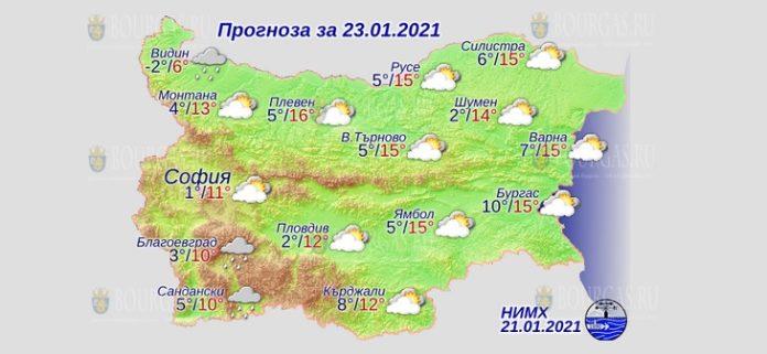 23 января погода в Болгарии