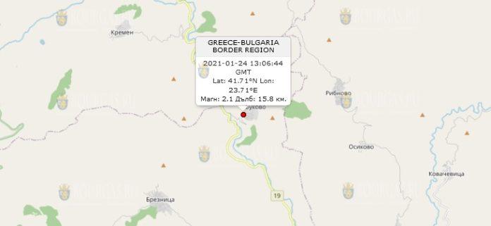 24 января 2021 года землетрясение в Болгарии