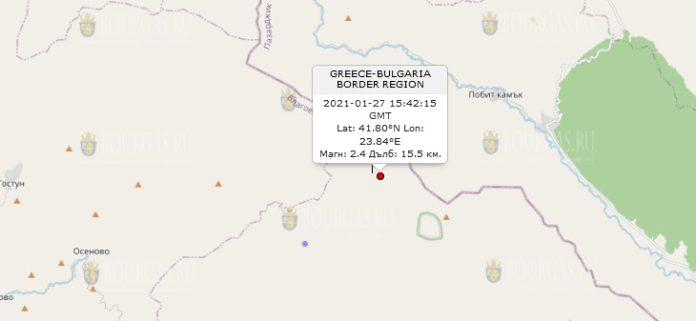 27 января 2021 года землетрясение в Болгарии