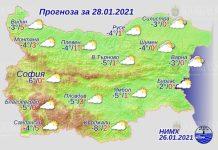28 января погода в Болгарии