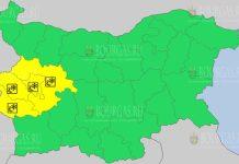 3 января 2021 года Желтый код в Болгарии
