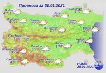 30 января погода в Болгарии