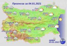 4 января погода в Болгарии