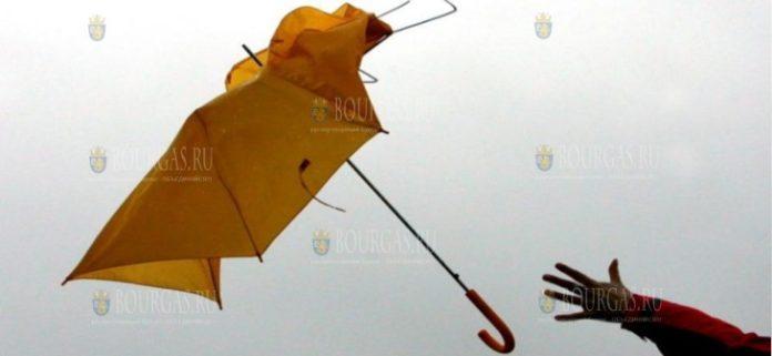 сильный ветер по всей Болгарии