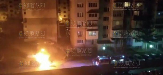 в Варне сгорели два автомобиля