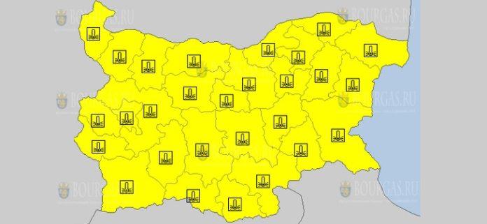 17 февраля 2021 года Желтый код в Болгарии