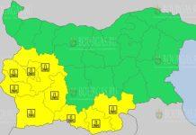 15 февраля 2021 года Желтый код в Болгарии
