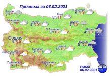 7 февраля погода в Болгарии