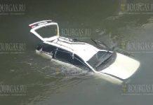 в Софии автомобиль упал с моста
