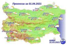 1 апреля 2021 года погода в Болгарии