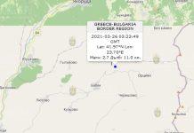26 марта 2021 года землетрясение в Болгарии