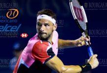 Григор Димитров на турнире в Акапулько Мексика