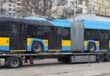 Первые новые троллейбусы прибыли в Софию