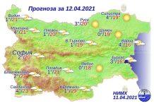 12 апреля 2021 года погода в Болгарии