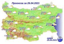 26 апреля 2021 года погода в Болгарии